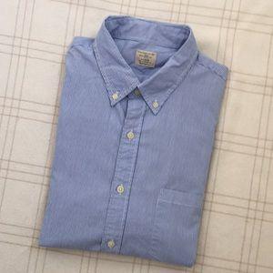 NWOT J. Crew Secret Wash Shirt in Banker Stripe